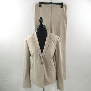 Tahari Pant Suit Blazer Pants Work Career